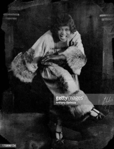 Portrait of American blues and jazz vocalist Bessie Smith New York early twentieth century