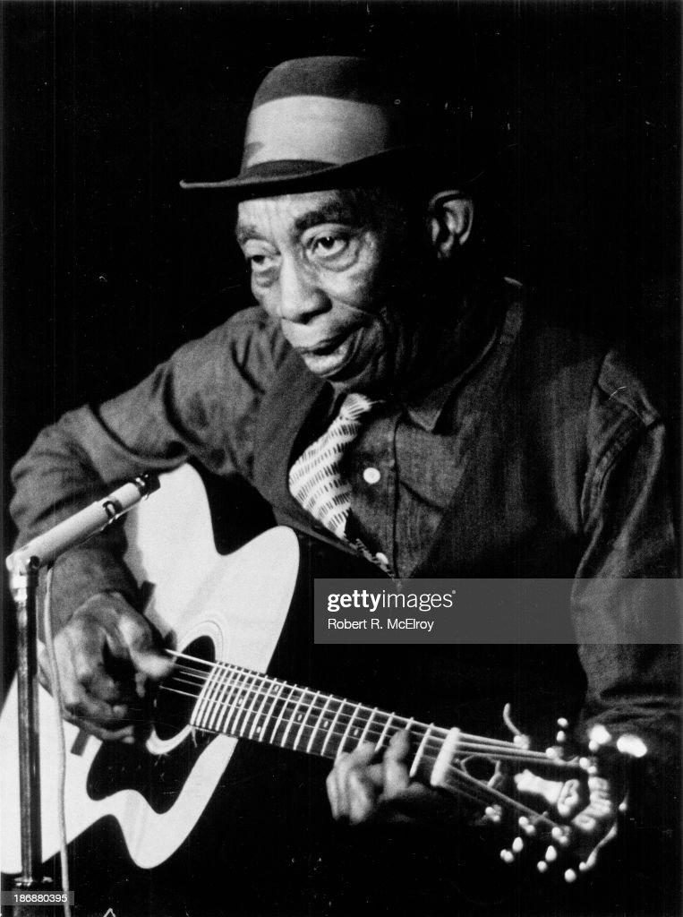 Portrait of American blues musician Mississippi John Hurt in New York December 10 1963