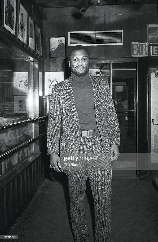 Portrait of American boxing legend Joe Frazier, mid to late 1970s.