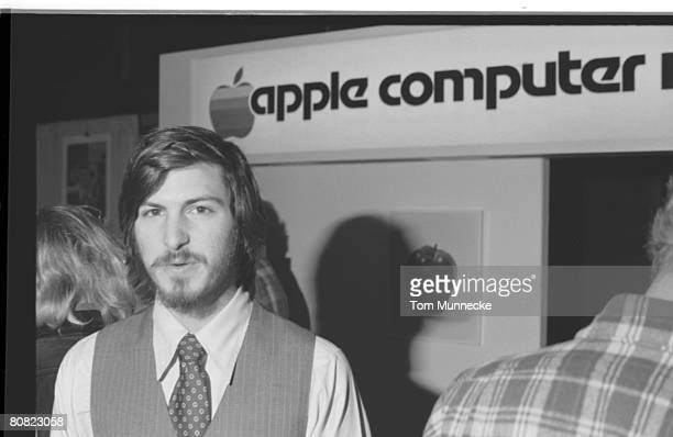 Portrait of American businessman and engineer Steve Jobs cofounder of Apple Computer Inc at the first West Coast Computer Faire where the Apple II...