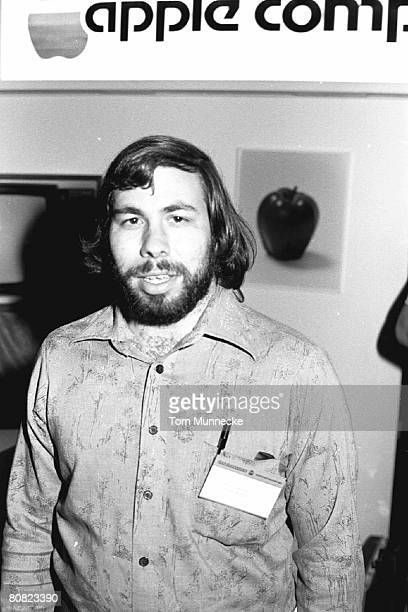 Portrait of American businessman and engineer Steve Wozniak cofounder of Apple Computer Inc at the first West Coast Computer Faire where the Apple II...