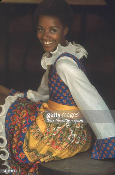 Portrait of American businesswoman Jackie Lewis who opened an antique clothing boutique in Soho called Le Grand Hotel 1987
