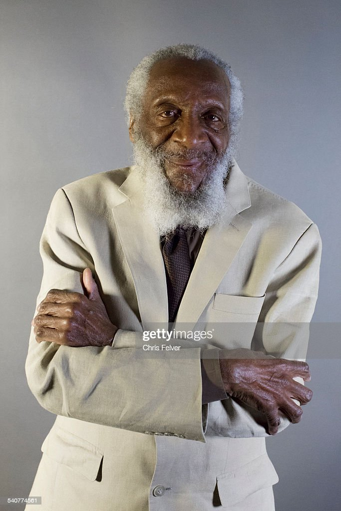 Portrait of American Civil Rights activist and comedian <a gi-track='captionPersonalityLinkClicked' href=/galleries/search?phrase=Dick+Gregory+-+Activist&family=editorial&specificpeople=226818 ng-click='$event.stopPropagation()'>Dick Gregory</a> at an event to honor his star on the Hollywood Walk of Fame, Hollywood, California, February 2, 2015.