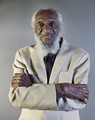 Portrait of American Civil Rights activist and comedian Dick Gregory at an event to honor his star on the Hollywood Walk of Fame Hollywood California...