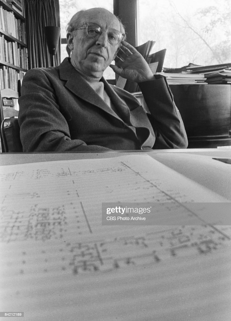 Portrait of American composer and conductor <a gi-track='captionPersonalityLinkClicked' href=/galleries/search?phrase=Aaron+Copland&family=editorial&specificpeople=571902 ng-click='$event.stopPropagation()'>Aaron Copland</a> (1900 - 1990), host of the televised 'Young People's Concerts' featuring the New York Philharmonic Orchestra, New York, October 23, 1969.