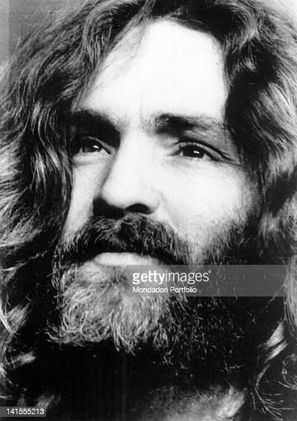 A portrait of American criminal Charles Manson 1970s