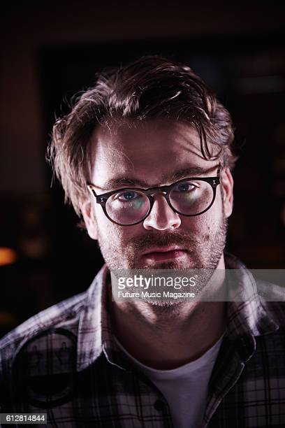 Portrait of American dance music producer and DJ Alex Pall best known as a member of The Chainsmokers photographed at Tileyard Studios in London on...