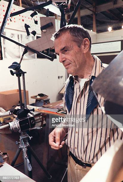 Portrait of American designer Charles Eames in his studio Venice California November 16 1974 This photo was taken as part of a shoot for Fortune...