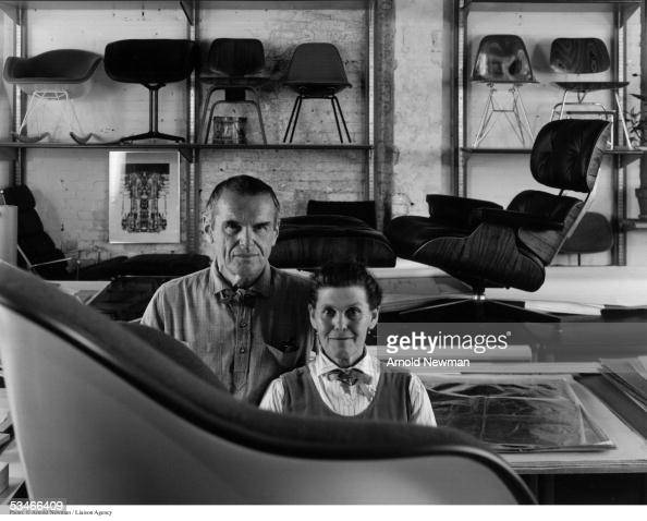 ray and charles eames stock fotos und bilder getty images. Black Bedroom Furniture Sets. Home Design Ideas