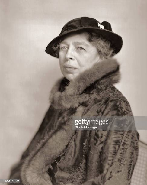 Portrait of American diplomat and former First Lady Eleanor Roosevelt early to mid 1940s