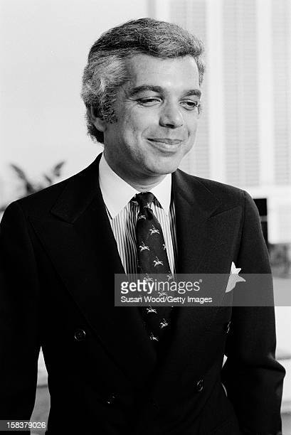 Portrait of American fashion designer Ralph Lauren in his 7th Avenue office New York New York November 1977
