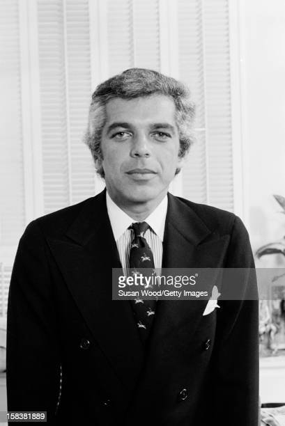 Portrait of American fashion designer Ralph Lauren in his 7th Avenue office New York New York November 1977