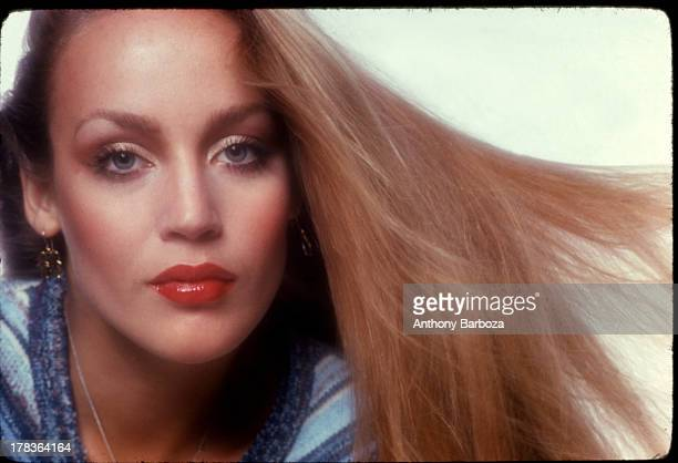 Portrait of American fashion model Jerry Hall early 1980s