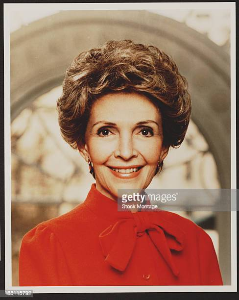 Portrait of American First Lady of The United States Nancy Reagan 1981