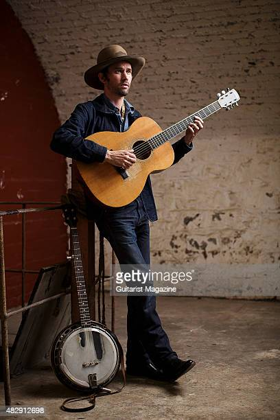 Portrait of American folk musician Willie Watson photographed before a live performance at the Colston Hall in Bristol on 3 September 2014 Watson is...
