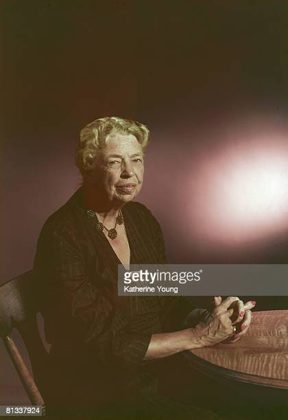 Portrait of American former First Lady and US Diplomat Eleanor Roosevelt 1957