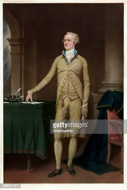 Portrait of American Founding Father Alexander Hamilton by Thomas Hamilton Crawford mezzotint 1932