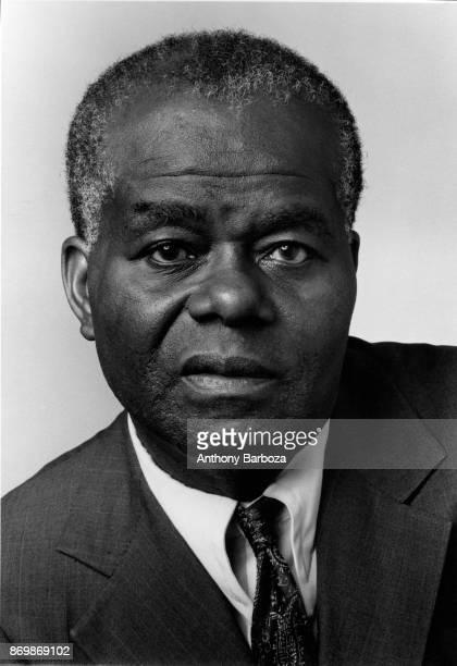 Portrait of American historian Professor John Henrik Clarke New York 1980s