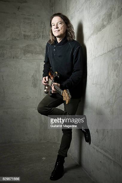 Portrait of American jazz and blues musician Robben Ford photographed before a live performance at the O2 Academy Islington in London on April 29 2015