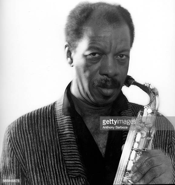 Portrait of American Jazz musician and composer Ornette Coleman New York 1985