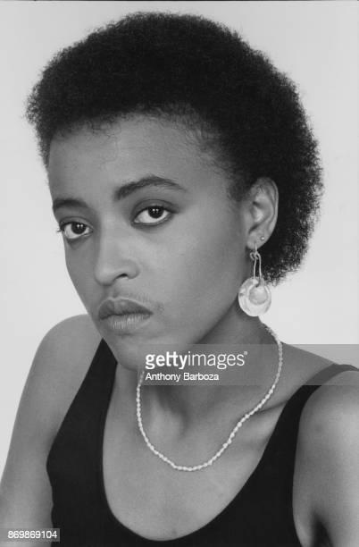 Portrait of American Jazz musician Cassandra Wilson New York 1990s