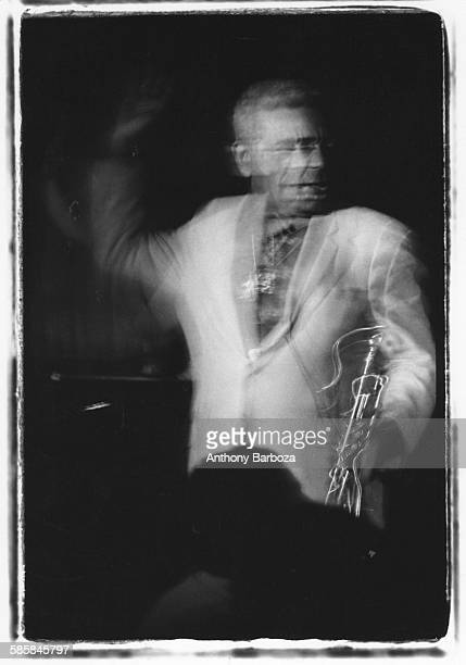 Portrait of American jazz musician Dizzy Gillespie performs onstage at the Blue Note nightclub New York New York 1988