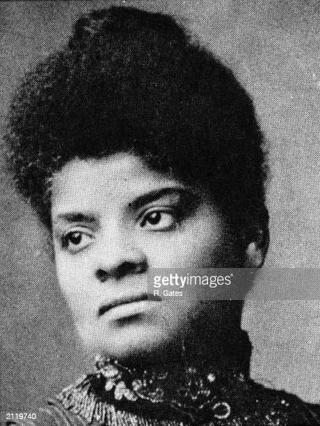 Portrait of American journalist suffragist and Progressive activist Ida Wells Barnett 1890s
