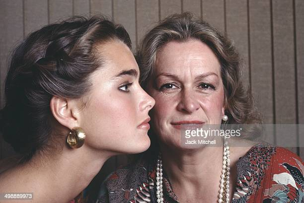 Portrait of American model and actress Brooke Shields and her mother and manager Teri Shields New York New York 1981