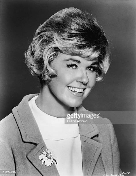 Portrait of American movie and television star singer and a friend to all the animals Doris Day as she wears a flower brooch circa 1966
