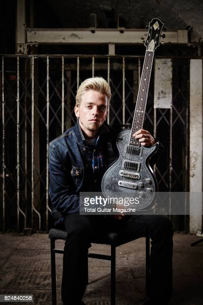 Portrait of American musician Ben Wells guitarist with hard rock group Black Stone Cherry photographed before a live performance at the Colston Hall...