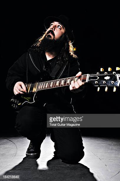 Portrait of American musician Daron Malakian taken on September 18 2008 Malakian is best known as the guitarist with heavy metal group System Of A...