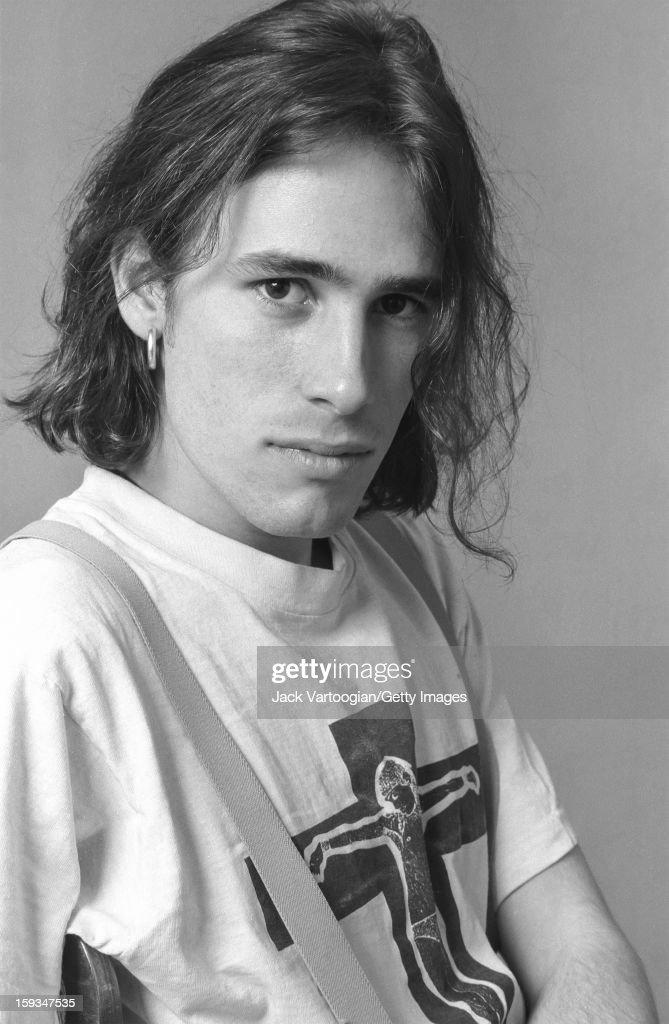Portrait of American musician Jeff Buckley (1966 - 1997) at Vartoogian Studios, New York, New York, February 6, 1992.