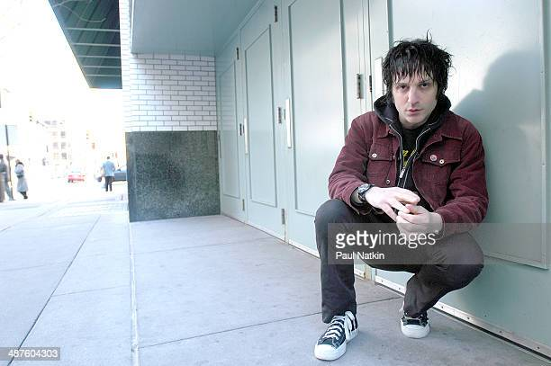Portrait of American musician Jesse Malin Chicago Illinois April 10 2003