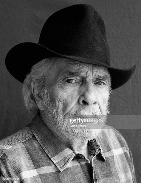 Portrait of American musician Merle Haggard Redding California 2014