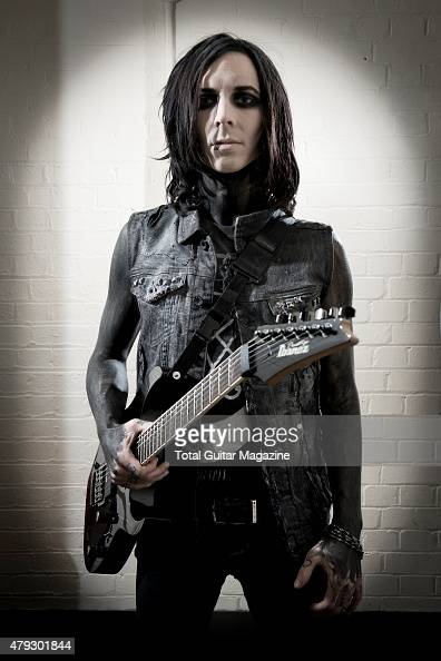 Portrait of American musician Richard Olson better known by his stage name Ricky Horror guitarist with industrial metal group Motionless in White...