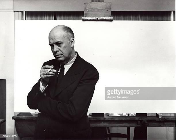 Portrait of American painter Edward Hopper November 1 1941 in New York City