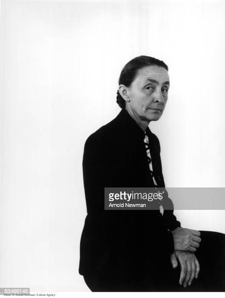 Portrait of American painter Georgia O''Keeffe April 17 1944 in New York City She is best known for her colorful paintings of flowers and landscapes...