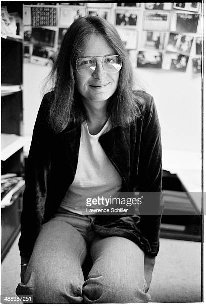 Portrait of American photographer Annie Leibovitz Hollywood California 1975 The picture was taken during the layout sessions of 'Mark Liebovitz The...