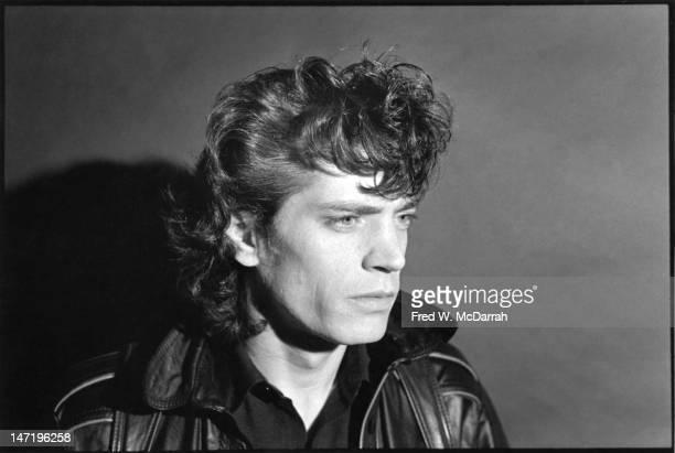 Portrait of American photographer as he poses in his loft studio New York New York December 22 1979