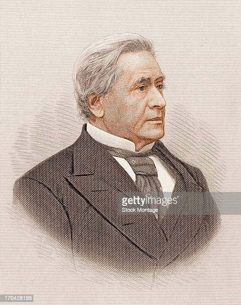 Portrait of American physicist Joseph Henry mid 19th century He is credited with building the first electric motor