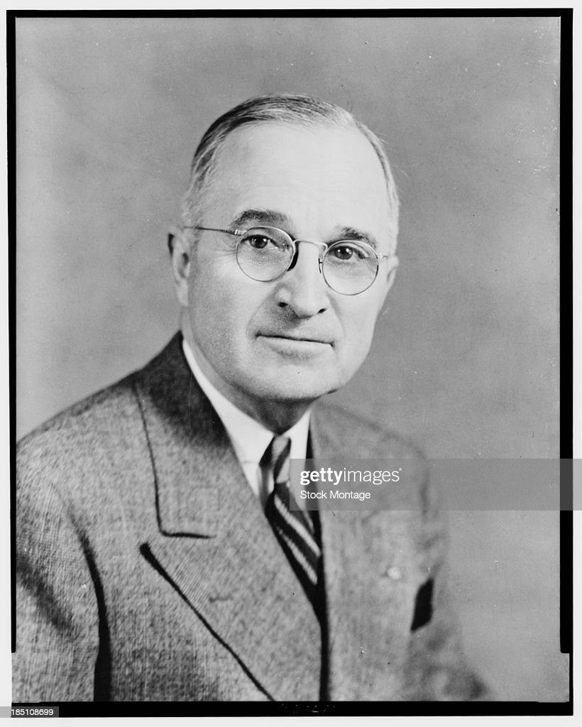 Portrait of American politician and US President Harry S Truman (1884 - 1972), June 27, 1945.