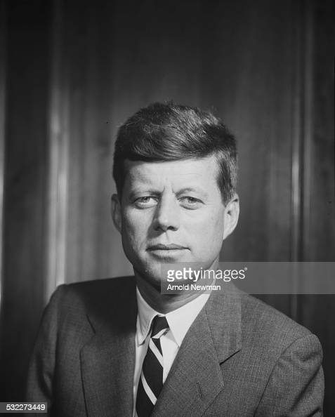 Portrait of American politician and US Senator John F Kennedy August 9 1956