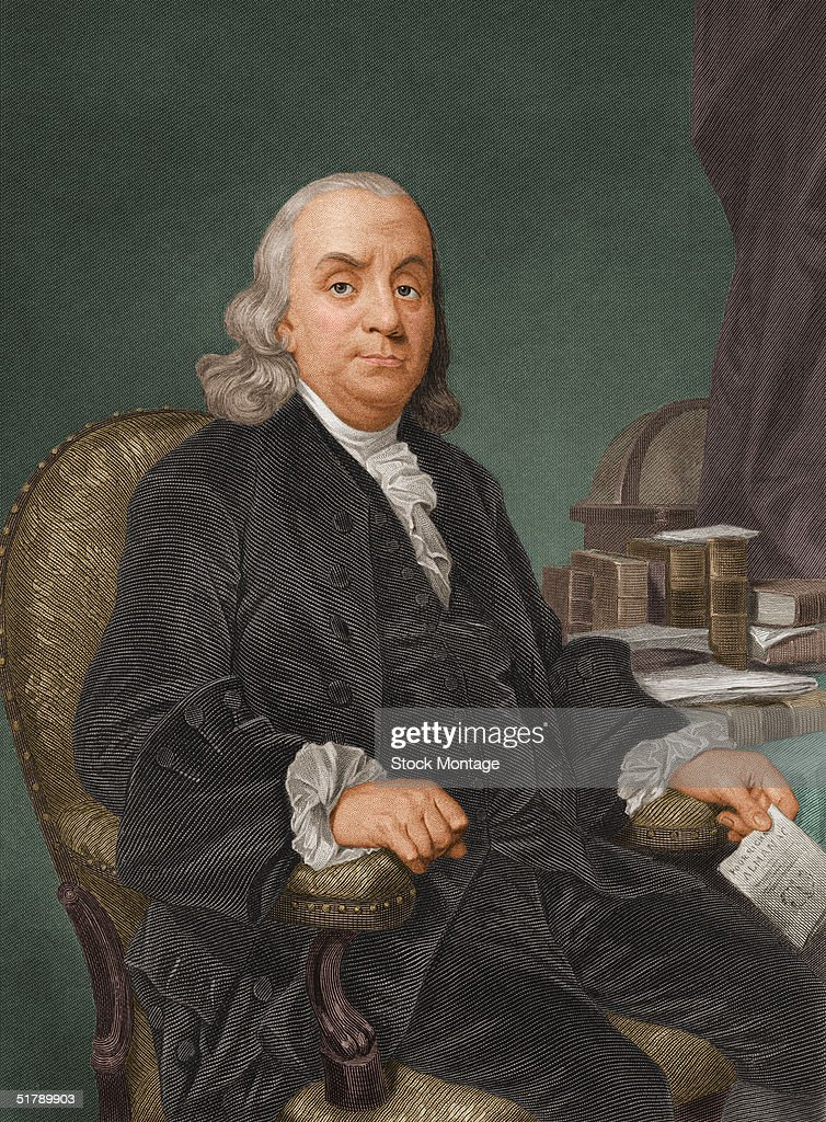Portrait of American politician, scientist, and philosopher <a gi-track='captionPersonalityLinkClicked' href=/galleries/search?phrase=Benjamin+Franklin&family=editorial&specificpeople=77750 ng-click='$event.stopPropagation()'>Benjamin Franklin</a> (1706 - 1790), one of the drafters of the Declaration of Independence, 1770s.