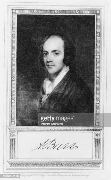 Portrait of American politician US Vice President Aaron Burr late eighteenth century