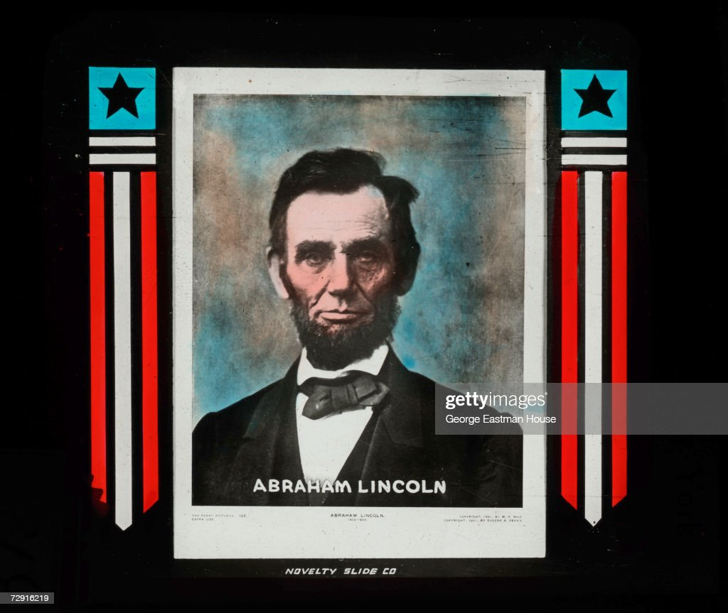 Portrait of American Preisdent Abraham Lincoln (1809 - 1865), 1860s. The image was produced in the late 1800s.
