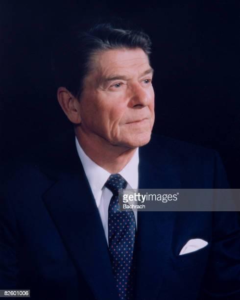 Portrait of American President Ronald Reagan Washington DC 1983