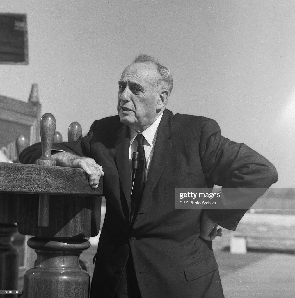 Portrait of American public official and city planner Robert Moses during the CBS Reports news program October 1962 The segment entitled 'The Man Who...