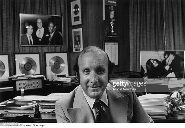Portrait of American record producer and music industry executive Clive Davis Burbank California August 19 1975