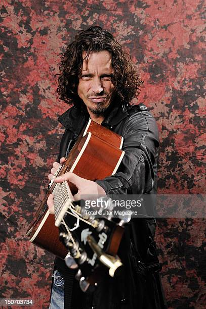 Portrait of American rock musician Chris Cornell taken backstage at Download Festival on June 15 2009 Cornell is best known as the frontman of both...