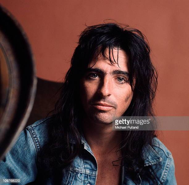 Portrait of American rock singer Alice Cooper in London England in March 1974